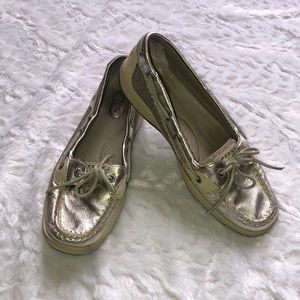 Sperry Metallic Top Sider Shoes 10M